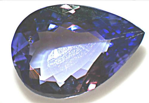 Super Neon Blue Tanzanite - Pear Shape