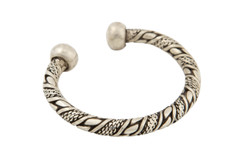 Braided Silver Bangle