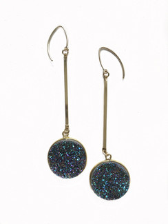 21mm Circle Druzy Earrings