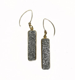 Rectangle Druzy Earrings