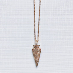 CZ Rose Gold Arrowhead Pendant