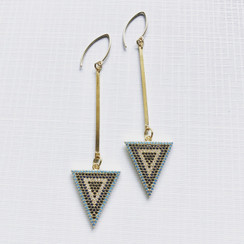 Striped Triangle Earrings