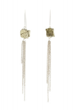 Pyrite Fringe Earrings