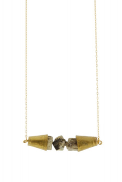 Pyrite Cone Necklace