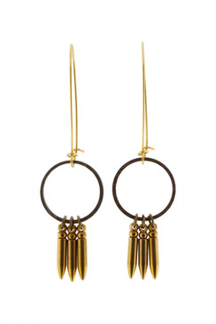 Circle Bullet Earrings