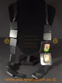 Beautiful black fashion necklace. Abstract square design