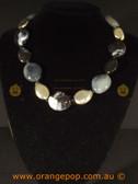Beautiful black fashion necklace, mixed bead design