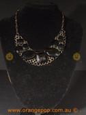 Stunning black fashion necklace