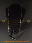 Stunning black and brown fashion necklace
