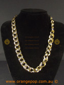 Gold look chain necklace