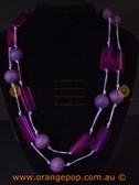 Long purple women's necklace