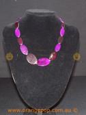 Shorter women's purple necklace
