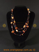 Assorted beads Multi coloured women's necklace