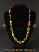Multi coloured earth toned women's necklace