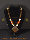 Amber/orange women's necklace