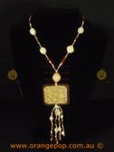 Orange/amber women's necklace