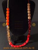 Mixed orange square women's necklace