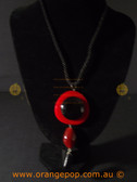 Abstract modern red/black women's necklace