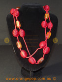 Red bauble women's necklace