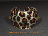 Dark leopard print women's cuff/bracelet