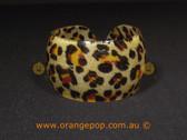 Leopard print 2 women's cuff/bracelet