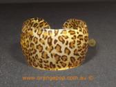 Cheetah print women's cuff/bracelet