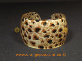Animal printed women's cuff/bracelet