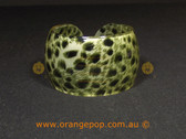 Green toned animal printed women's cuff/bracelet