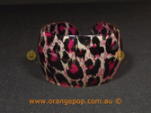 Pink/purple animal print women's cuff/bracelet