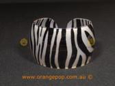 Zebra print women's cuff/bracelet