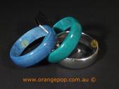 Blue, green and silver women's bracelets/bangle