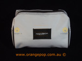 Napoleon Perdis Limited Edition White with Brown trim makeup bag