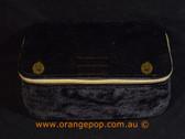 Napoleon Perdis Limited Edition Black Suede look makeup bag