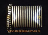Napoleon Perdis Limited Edition Gold & Black stripe clutch/purse makeup bag