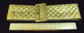 Decuba Gold quilted pattern Women's Ladies Fashion Belt
