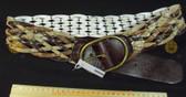Fiorelli tri colour brown leather look braided Women's Ladies Fashion Belt RRP $49.95