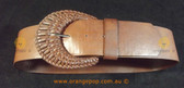 Brown leather look Women's Ladies Fashion Belt