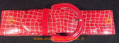 Red snake print wide Women's Ladies Fashion Belt