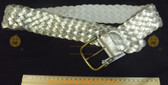 BILLABONG metallic Silver leather Women's Ladies Fashion Belt