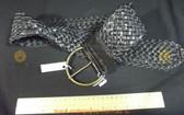 Wide black braided Women's Ladies Fashion Belt
