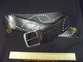 Black leather look studded retro/vintage Women's Ladies Fashion Belt