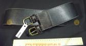 Wide black leather look Women's Ladies Fashion Belt