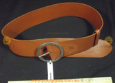 Tan brown leather Women's Ladies Fashion Belt;