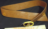 Tan brown leather look Women's Ladies Fashion Belt