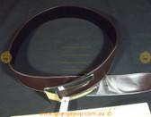 Retro/Vintage brown leather look silver buckle Women's Ladies Fashion Belt