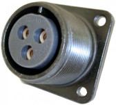3 Pin Flanged Box Receptacle with Female Insert