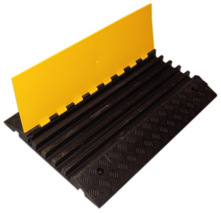 5 Channel Rubber Cable Protector Ramp Open Side