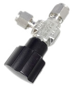 SS Integral Bonnet Non-Rotating Stem Valve, 0.27 Cv, 1/4 in. Swagelok Tube Fitting