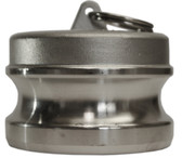 MET-80 316 Stainless Steel Cam and Grove Hose Coupling Plug