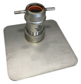 Stainless Steel Port Seal Plate with Port Adapter
